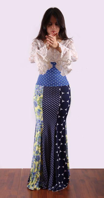 Falda flamenco patchwork . By Tate