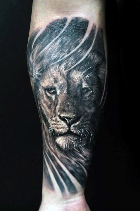 Lion Forearm Tattoos on Pinterest | Lion tattoo sleeves Lion tattoo ...