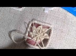 How I make edelweiss stitch,hardanger embroidery. - YouTube