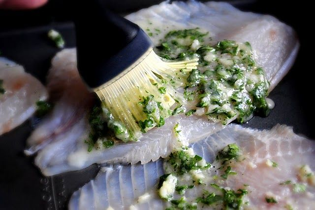 Lemon Garlic Tilapia:  an easy recipe for the bag of frozen tilapia in the freezer!