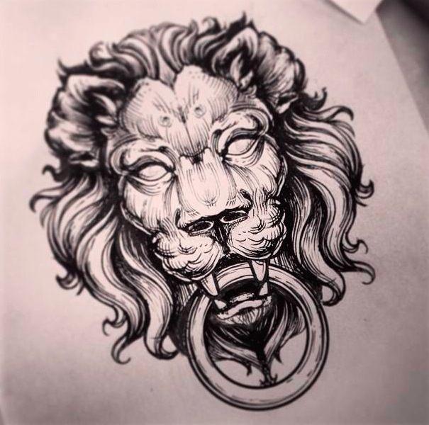 Lion by Alex Tabuns | Tattoo Artist – Saint Petersburgh, Russia