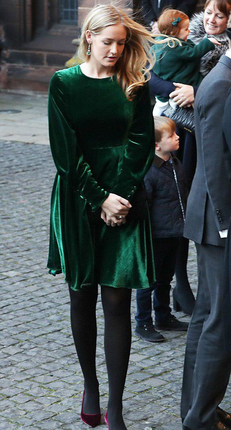 The Duke of Westminster's daughter, Lady Viola, attend a Memorial Service at Chester Cathedral on November 28, 2016 in Chester, England.