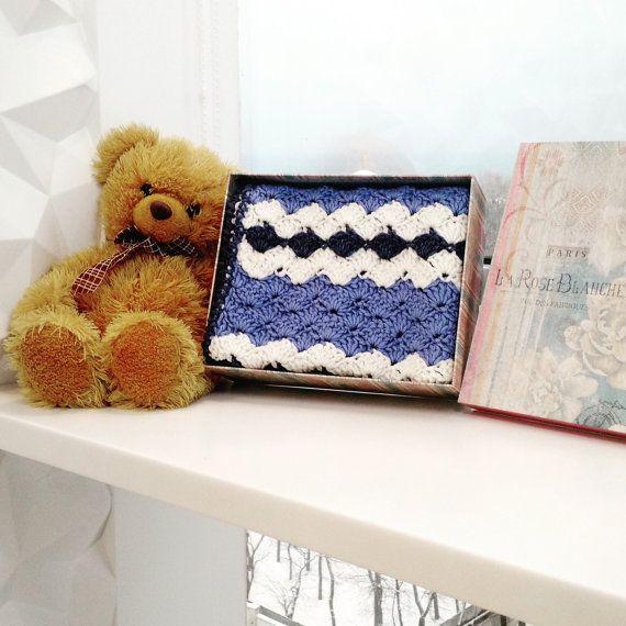 Small Blanket - Baby Blanket - Crochet Blanket - Wool Blanket - Hand Knitted Blanket - Throw Blanket - Stroller Blanket by  WowKnitAndCo
