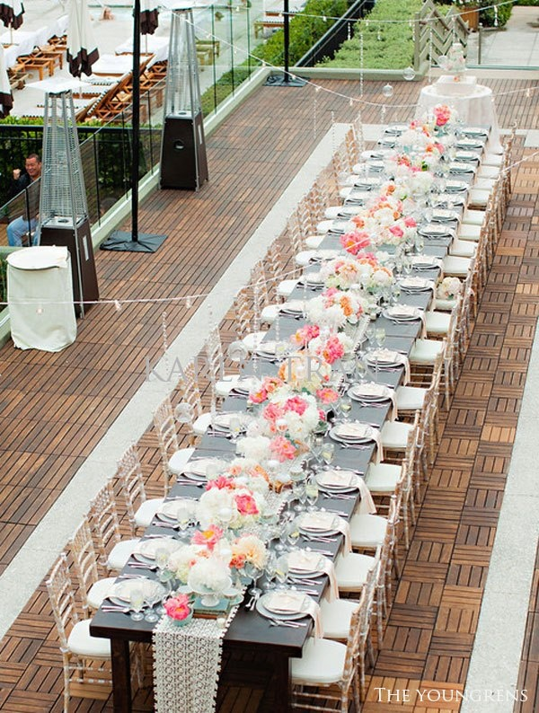 love the use of tables together to create one long table so much fun to