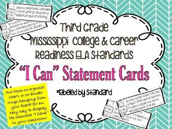this is a complete set of the ms college career readiness standards put - Wwwpaintcom