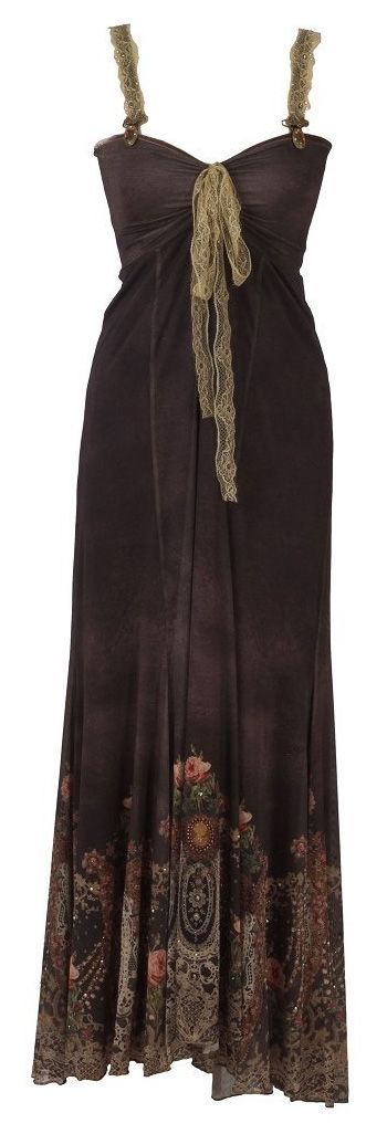 Michal Negrin - Designer Dress - Black Long with Very Ornate Details