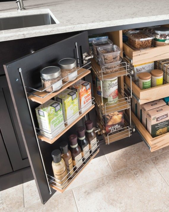 There are tons of new storage solutions that come with new kitchens that can really help maximize your kitchen -- so don't miss out! Storage solutions like pantries and super cabinets go a long way in helping you get the most out of your cabinets.The Martha Stewart Living kitchen line at The Home Depot has many different storage solutions, including optimized small kitchen spaces -- see all of the options in our latest catalog.