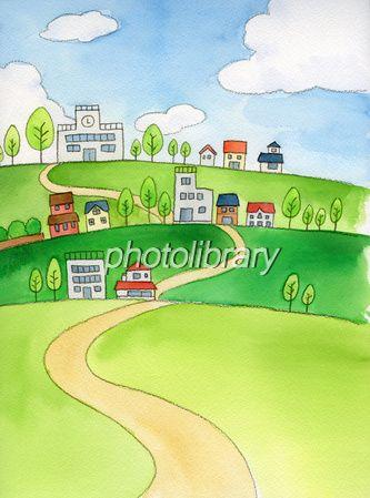 表紙に使える風景画/お手軽素材集CD-ROM イラスト家族vol.1 写真素材