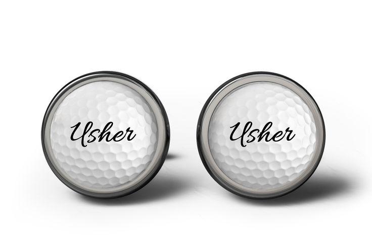 Usher Golf Wedding Cufflinks