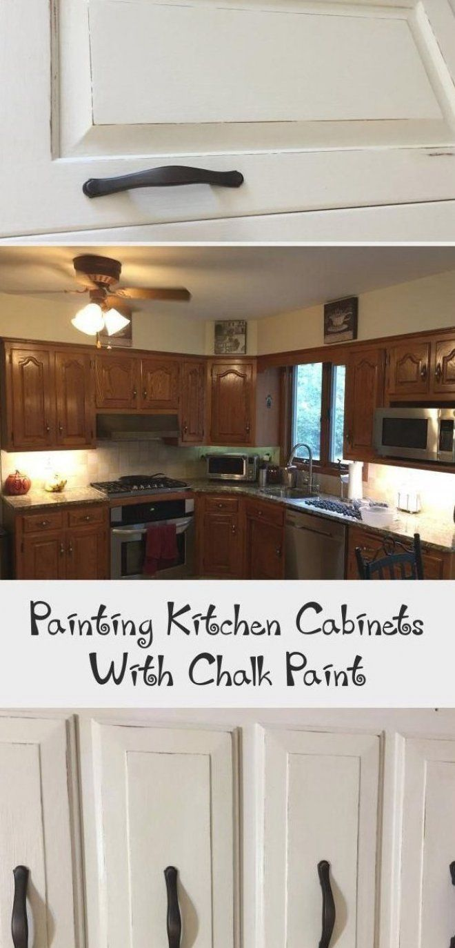 Painting Kitchen Cabinets With Chalk Paint The Kelly Homestead Smallkitchenca Cabinets Chalk Homestead Kelly Kitchen Paint Painting Smallkitchenca In 2020