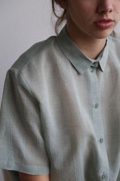 love this mint green shirt: Samuji Gada - curated by ajaedmond.com | capsule wardrobe | minimal chic | minimalist style | minimalist fashion | minimalist wardrobe | back to basics fashion