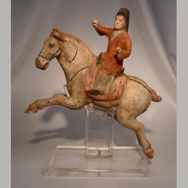 Ancient Chinese Terracotta Polo Player