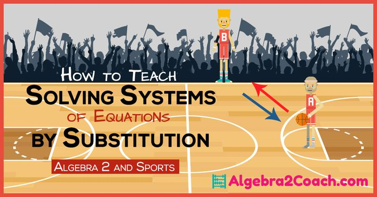 Substitution is something your students are very familiar with. Use this to your advantage when teaching Solving Systems of Equations by Substitution.