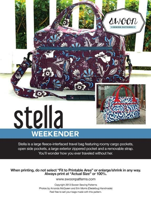 Swoon Stella Weekender. My next project!!! I really love this pattern!! Swoon patterns on sale on craftsy until nov 29, 2013!!!