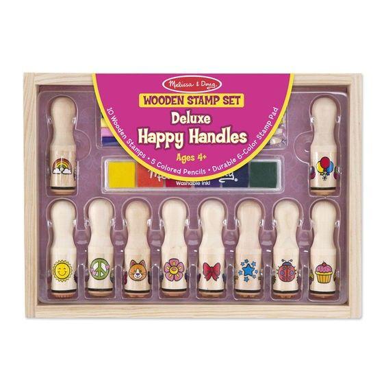 Melissa & Doug - Deluxe Happy Handle Stamps Set
