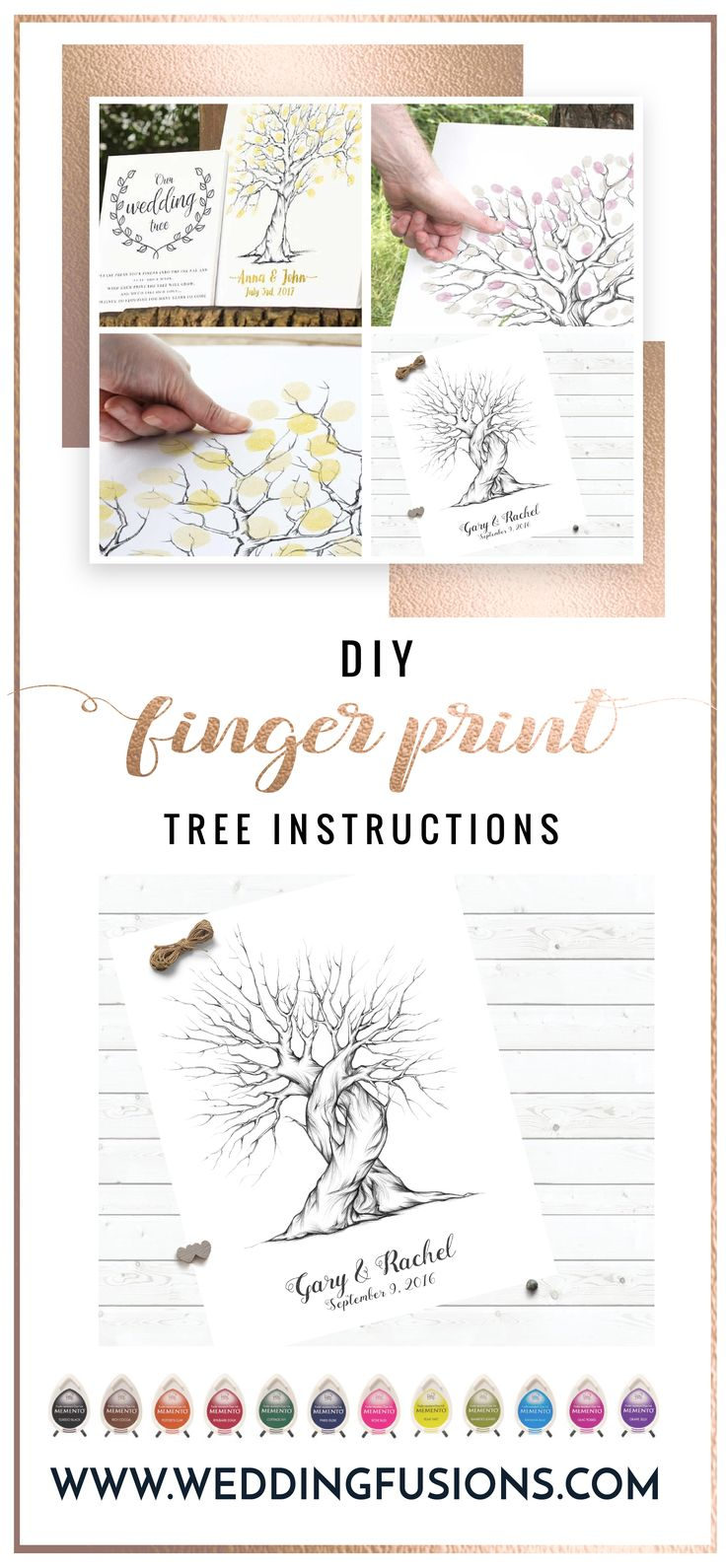 Check out our blog for some great DIY fingerprint tree tips and ideas!