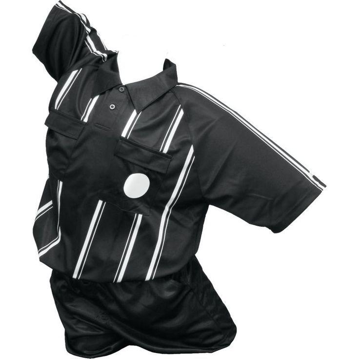 Kwik Goal Premier Soccer Referee Jersey, Adult Unisex, Size: Youth Large, Black