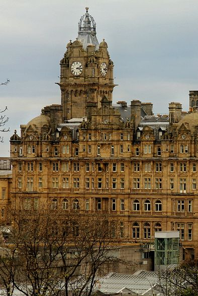 The Balmoral Hotel, 1 Princes Street, Edinburgh, Scotland, UK Originally known as the North British Railway Hotel.