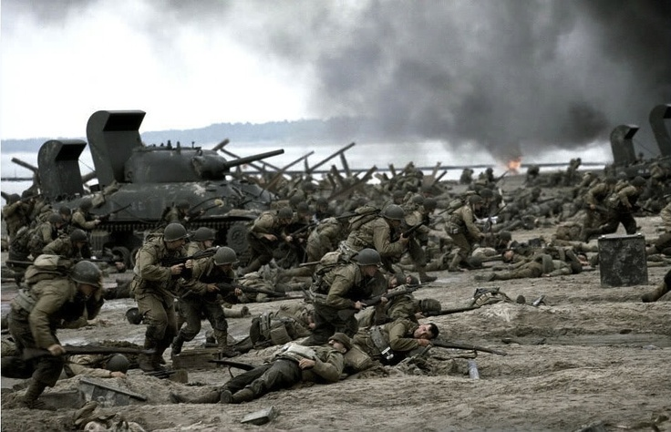 Saving Private Ryan... Beach of Normandy. This movie reminds me of my Grandfather every time I watch it.