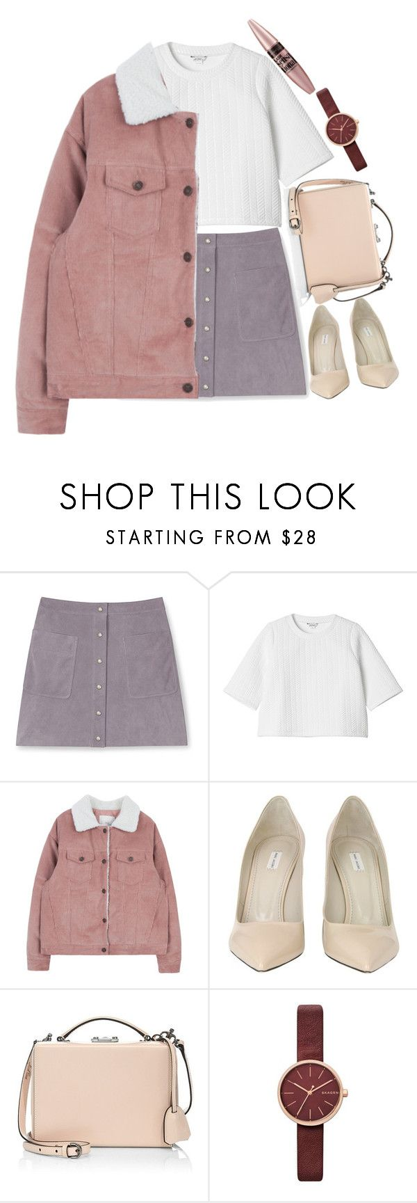 """""""I'm back b!tches"""" by sagelincoln ❤ liked on Polyvore featuring Rebecca Minkoff, Monki, Marc Jacobs, Mark Cross, Skagen and Maybelline"""