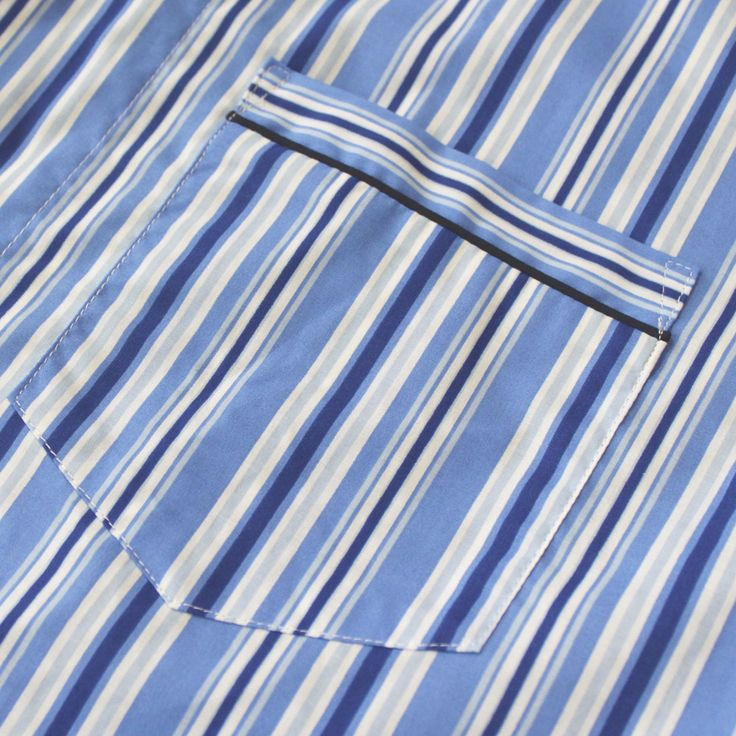 Gloster Sky Stripe Printed Cotton Rich CVC