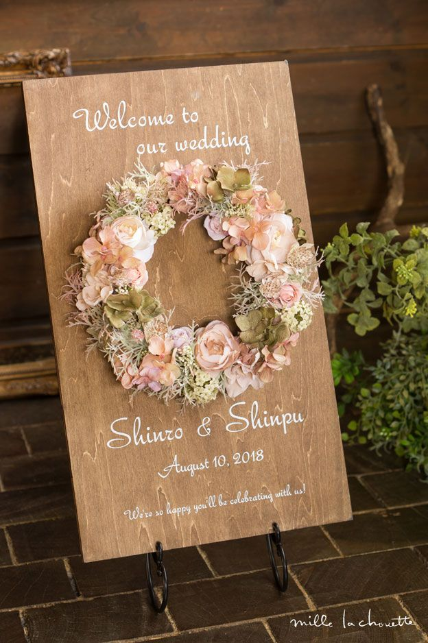 Floral wedding sign