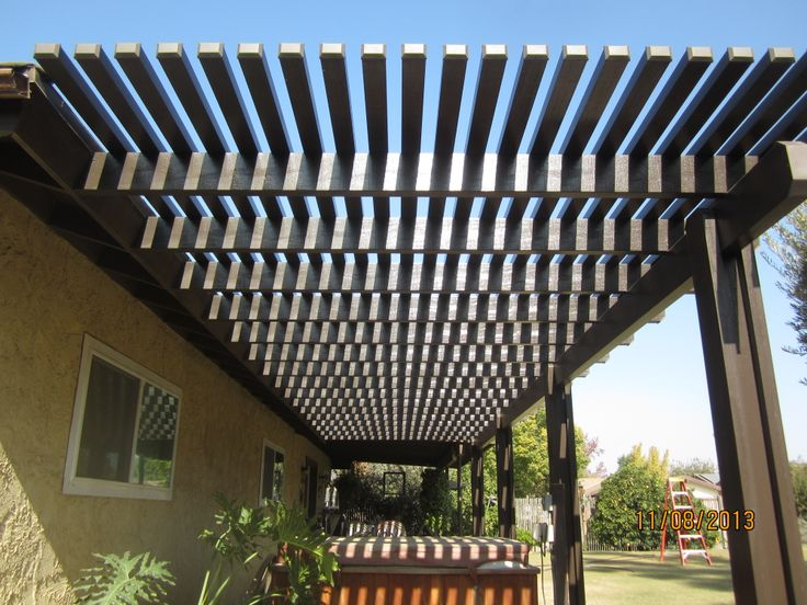 This open lattice patio cover allows for a great combination of sun and shade