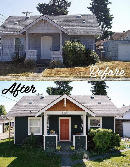 Beautiful and extreme DIY: Exterior Before   After by Delightfully Tacky.  ~ Great pin! For Oahu architectural design visit http://ownerbuiltdesign.com