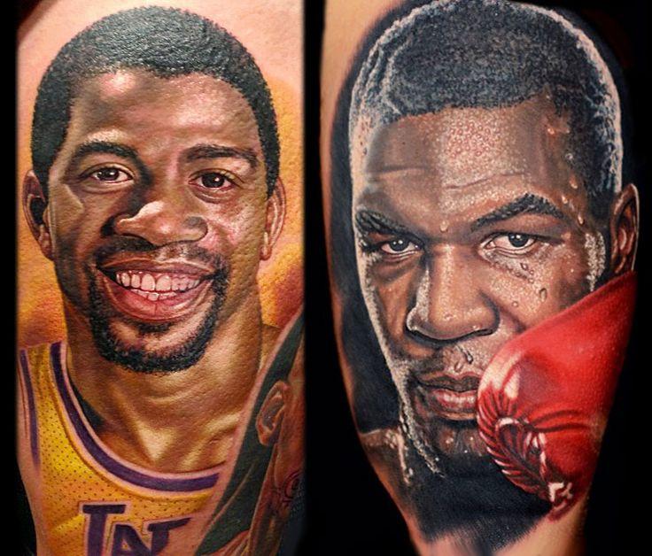 Magic Johnson and Mike Tyson