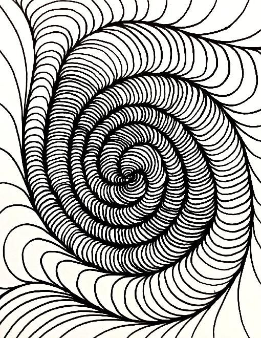 17 best images about op art on pinterest illusions for Op art coloring pages