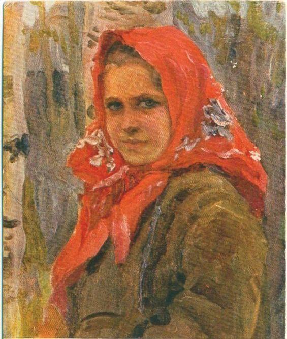 А.В.Моравов. Деревенская девушка