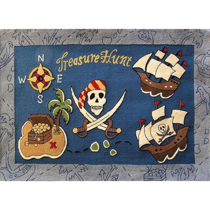 Pirate Treasure Map Rug: Treasure Island On Pinterest