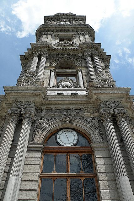 Dolmabahçe Palace Clock Tower, Istanbul, Turkey.
