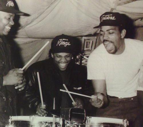 Dr. Dre, Eazy E, and The D.O.C.