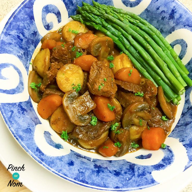 """This """"Half Syn Rustic Slow Cooked Beef Steak One Pot"""", although easily prepped, requiring little attention while cooking; is non the less a hearty and delicious meal enjoyed by the whole family! I've used sirloin steaks in the recipe, but any lean steak or braising beef will work well (with all visible fat removed), making…"""