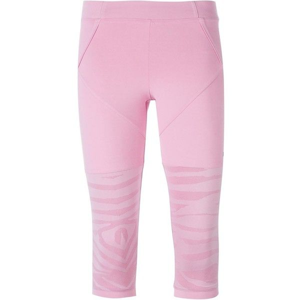 Adidas By Stella Mccartney 'Studio Zebra' leggings (€77) ❤ liked on Polyvore featuring pants and adidas