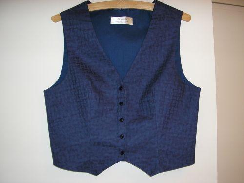 Navy Basketweave Cotton Waistcoat 10-12