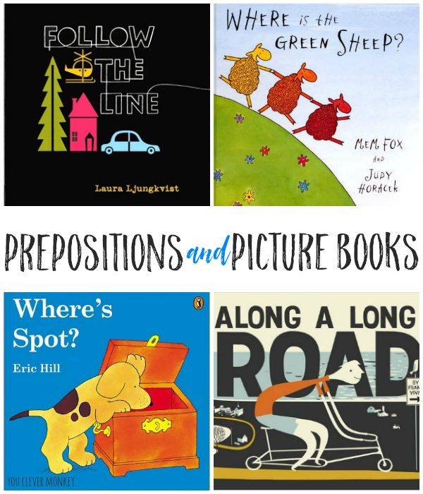 Prepositions and Picture Books - good picture books for teaching prepositions to young children perfect for introducing spatial concepts | you clever monkey