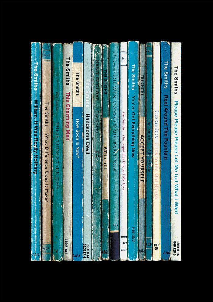 The Smiths 'Hatful of Hollow' Album As Book Print Morrissey & Marr Collected Works Music Poster Literary Print