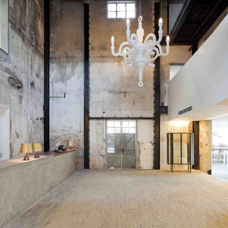 chandelier in factory