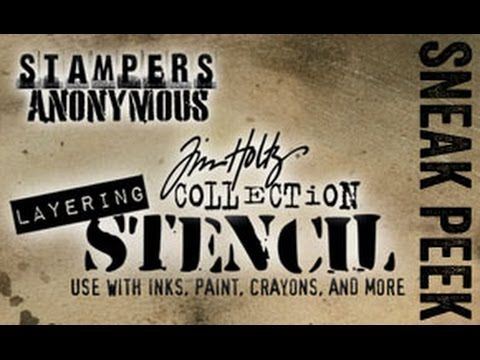 2017 sneak peek – stampers anonymous stencils…  |  Tim Holtz