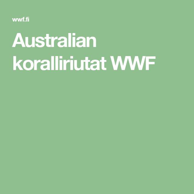 Australian koralliriutat WWF