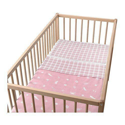 """Ikea Vandring Skog Crib Duvet Cover/pillowcase, Pink by Ikea. $19.99. Ikea Vandring Skog Crib Duvet Cover/pillowcase, Pink  Ikea Vandring Skog Crib Duvet Cover and pillowcase,  Duvet cover with a different pattern on each side. Matches the motif on other products in the VANDRING series.  Product dimensions Duvet cover length: 49 """" Duvet cover width: 43 """" Pillowcase length: 22 """" Pillowcase width: 14 """"   Duvet cover length: 125 cm Duvet cover width: 110 cm Pillowcase length: 55 cm..."""