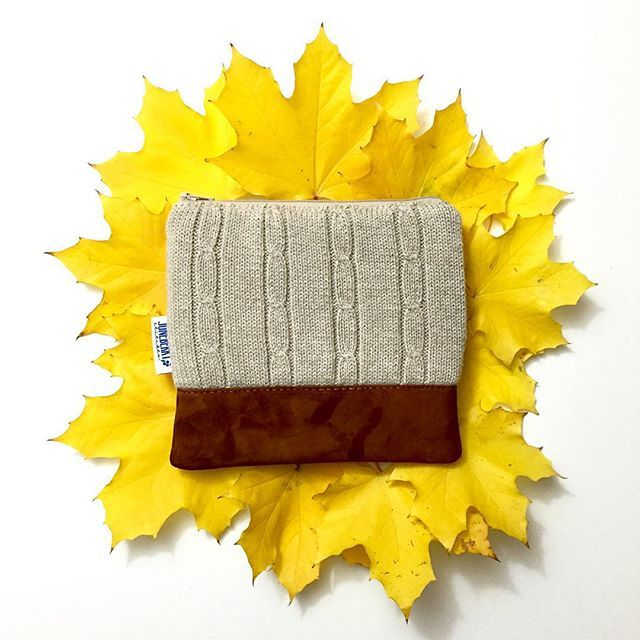 Upcycled Sweater Clutches by #juneberrystitches