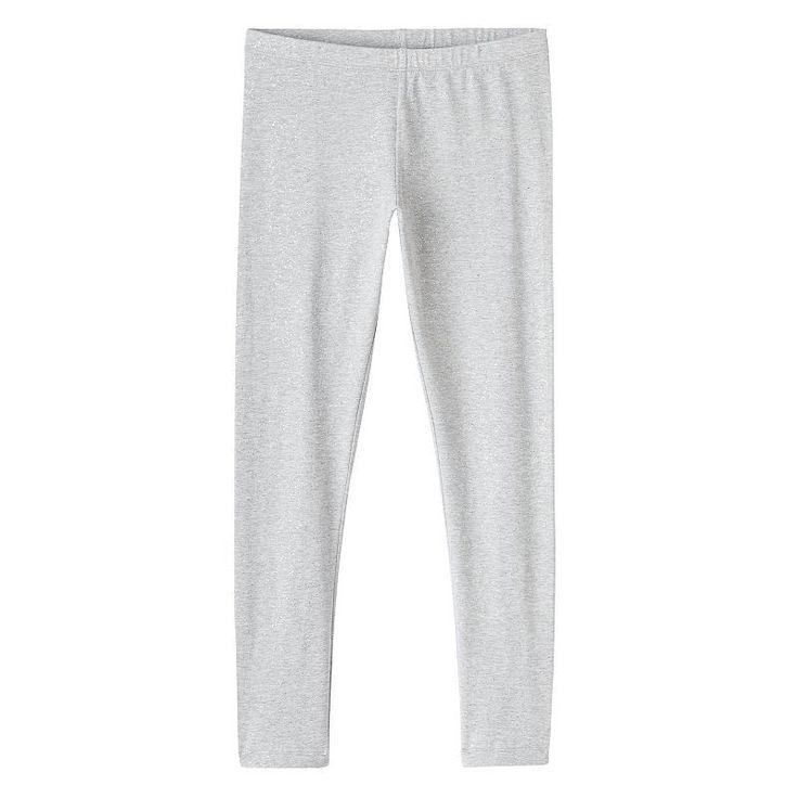 Girls 7-16 & Plus Size Full Length Leggings, Girl's, Size: 20 1/2, Med Grey