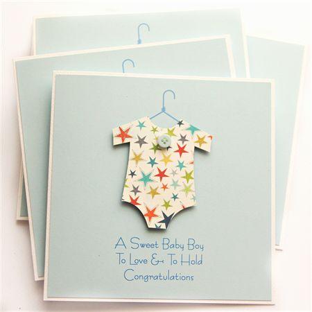 Baby boy card stars new baby newborn baby suit son grandson grandchild