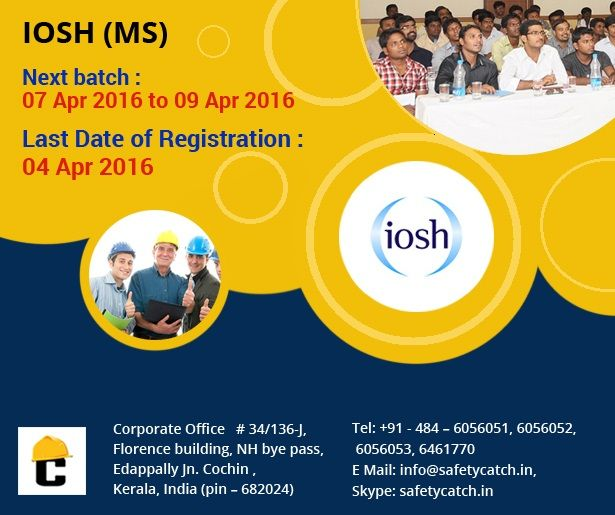 HURRY!!! TODAY IS THE LAST DAY!!! For Online Registration: http://www.safetycatch.in/html/registration.php Contact us for details: http://www.safetycatch.in/html/contact.html ~www.safetycatch.in #SafetyTraining #SafetyTrainingProgram #IOSHTraining