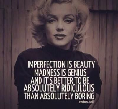 Marilyn Monroe Quote Imperfection