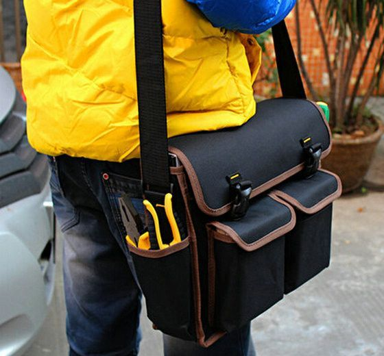 1pc Black New Thicken Oxford Multi Funtional Hardware Toolkit Shoulder Strap Tool Bag Backpack  12001571 - ICON2 Luxury Designer Fixures  1pc #Black #New #Thicken #Oxford #Multi #Funtional #Hardware #Toolkit #Shoulder #Strap #Tool #Bag #Backpack # #12001571