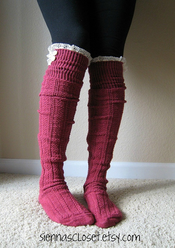 Love them! The Milly LaceBERRY cableknit BOOT SOCKS w/ by GraceandLaceCo, $34.00: Milly Lace, Cableknit Boot, Boots Clothes, Anytime Socks, Lace Berry, Boots Shoes, Lace Ruffle, Cable Knit, Boot Socks